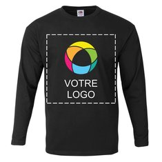 T-shirt homme manches longues 100 % coton Fruit of the Loom®