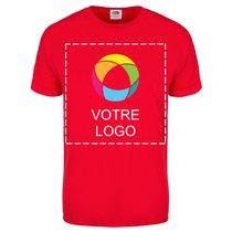 T-shirt homme manches courtes unicolore 100 % coton Fruit of the Loom® 664d5f2e76fe