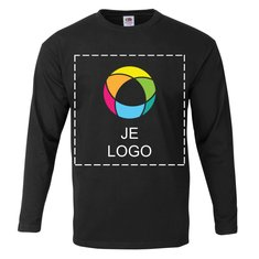 Fruit of the Loom® 100% Katoen Mannen T-shirt met Lange Mouwen