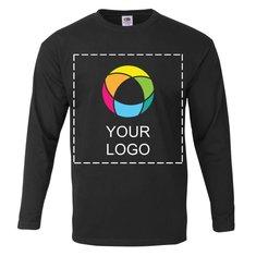 Fruit of the Loom® 100% Katoen Mannen T-shirt met Lange Mouwen