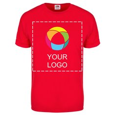 Fruit of the Loom® Herren-T-Shirt, Kurzarm, 100 % Baumwolle mit Farbüberlagerung