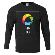 Fruit of the Loom® Herren-T-Shirt, Langarm, 100 % Baumwolle