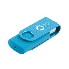 Clé USB bicolore pivotante de 4Go