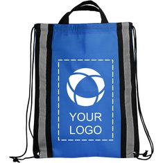 Bullet™ Reflective Non-Woven Drawstring Backpack