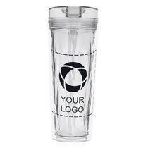 Hot & Cold Flip-N-Sip Geometric 18-Ounce Tumbler