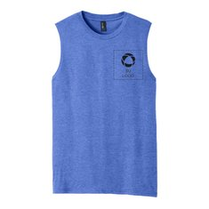 District® V.I.T.™ Muscle Tank with Left Chest and Back Screenprint