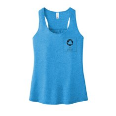 District® Women's V.I.T.™ Gathered Back Tank with Left Chest Screenprint