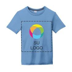 Camiseta juvenil Sport-Tek® PosiCharge® Competitor™ Cotton Touch con impresión a tinta