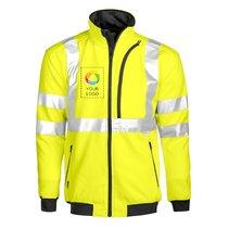 Projob EN ISO 20471 klass 3 Sweatshirt med genomgående dragkedja