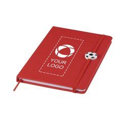 Libreta de tamaño A5 con adorno de balón de fútbol Rowan de Bullet™