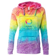 MV Sport Courtney Burnout V-Notch Sweatshirt
