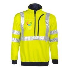 Sweatshirt Projob avec fermeture au col conforme à la norme ENISO20471 classe3