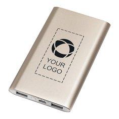 Estilizada batería externa de aluminio