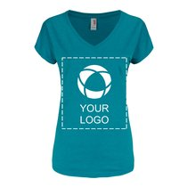 Anvil® Women's Triblend V-Neck T-Shirt Screenprint