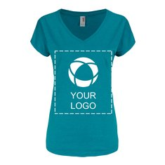 Anvil® Women's Triblend V-Neck T-Shirt Screenprint