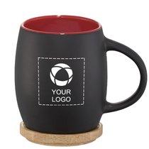 Avenue™ Hearth Ceramic Mug with Wood Lid/Coaster
