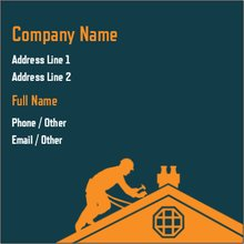 Roofing construction repair improvement square business cards upload it reheart Images
