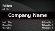 Personalized standard business cards designs chauffeur limousine upload it colourmoves Images