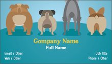 Personalized standard business cards designs pet sitting dog upload it colourmoves
