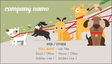 Personalized standard business cards designs pet sitting dog 3 more colourmoves