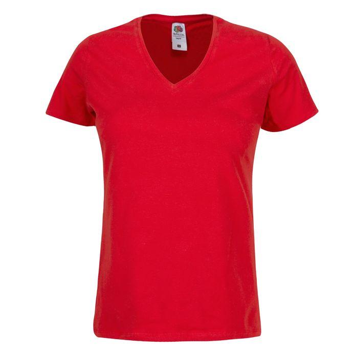 dd3c75ef99 T-shirt col en V femme personnalisé de Fruit of the Loom | Vistaprint