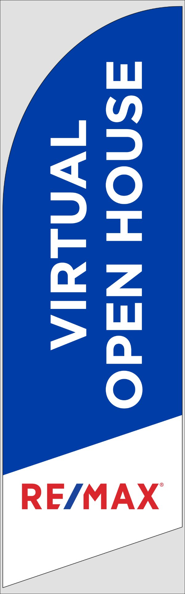 Picture of Blue Virtual Open House - FLAG ONLY (8 ft)