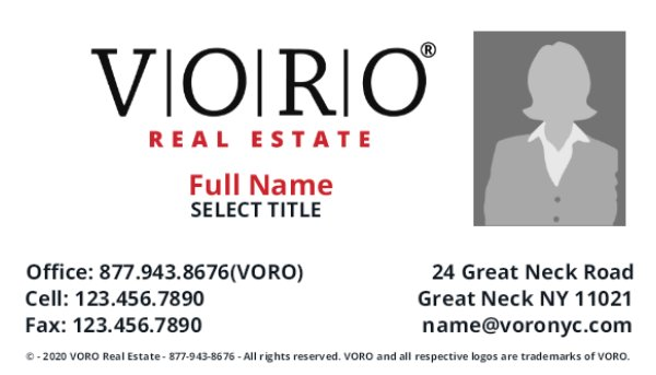 Picture of Voro Business Card 3 (Broker)