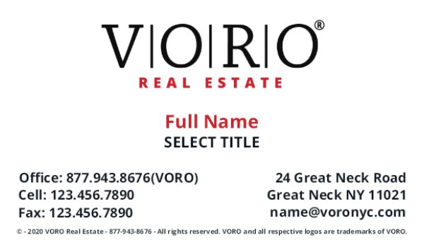 Picture of Voro Business Card 1 (Broker)