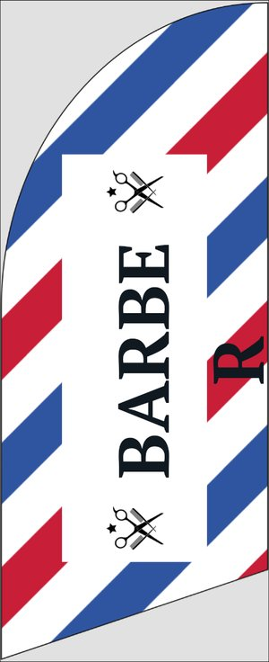 Picture of 6ft Feather Flag Barber/Beauty 3
