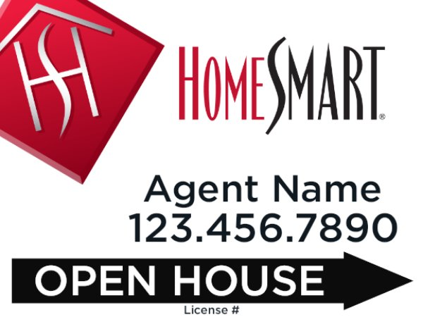 Picture of 18 x 24 Open House Agent Directional (Double Sided)