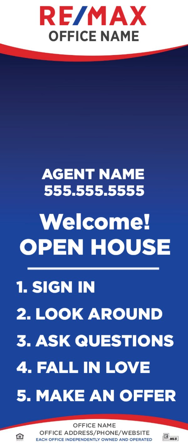 Picture of Open House Retractable Banner