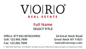 Picture of Voro Business Card 1 (Sales)