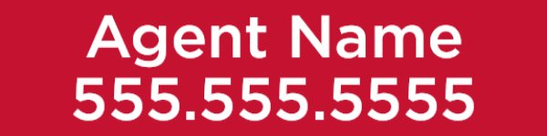 Picture of Agent Name + Phone Number  Rider - Red (Double Sided)