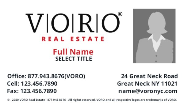 Picture of Voro Business Card 3 (Sales)