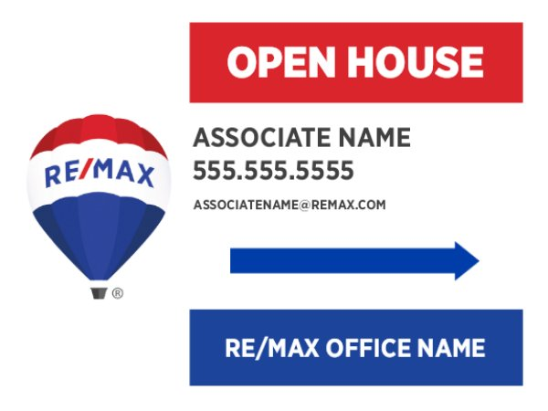 Picture of Open House Agent Photo directional
