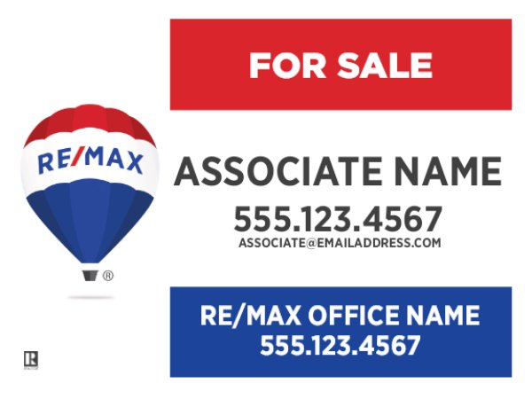 Picture of Large Agent Name Standard Sign