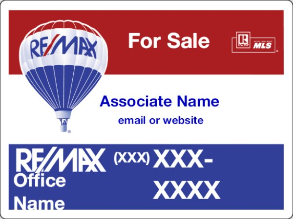 Picture of RE/MAX For Sale Sign (QR/Email/URL)
