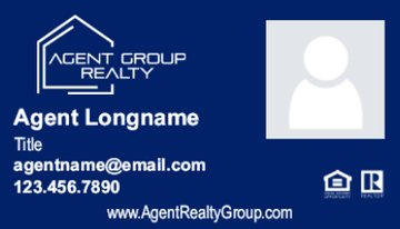 Picture of Agent Group Realty Business Card 3