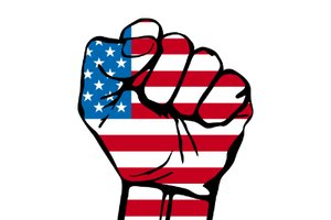 Picture of American Flag Fist