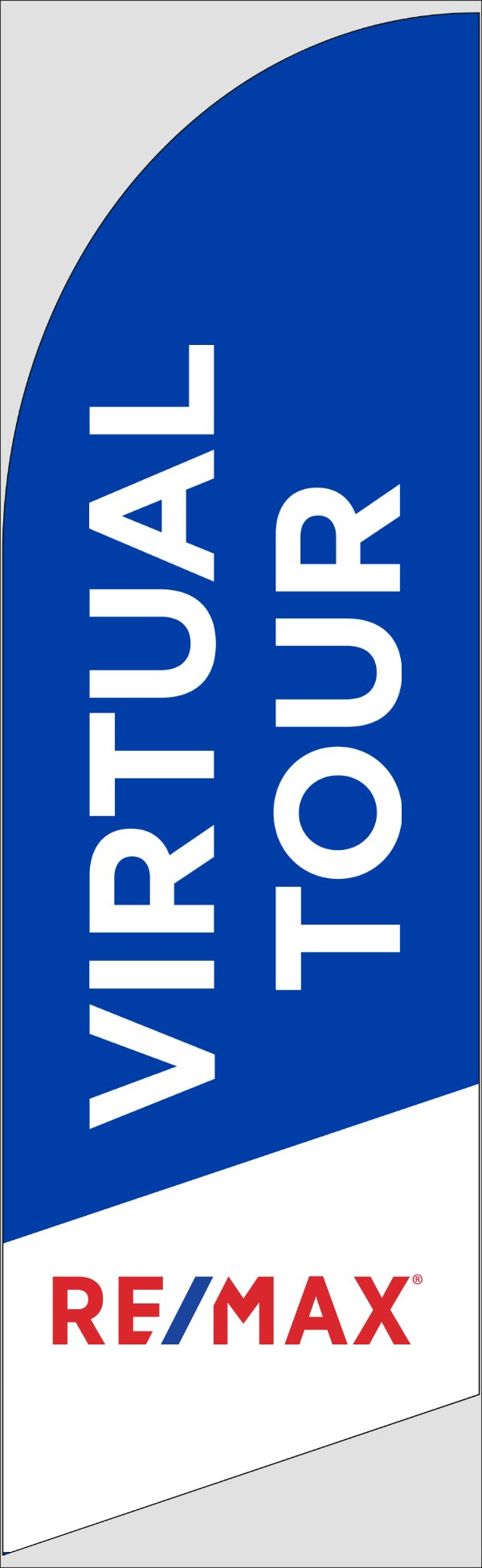 Picture of Blue Virtual Tour - 10ft x 2.5ft Feather Flag