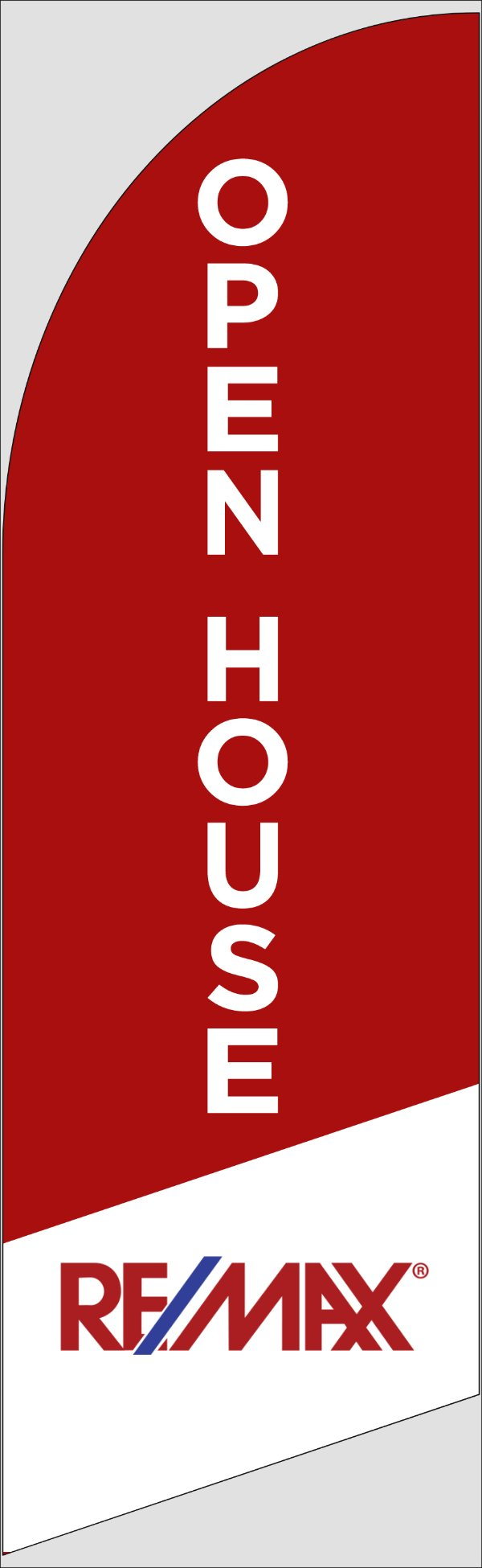Picture of Open House W/Logo (Red) - 10ft x 2.5ft Feather Flag