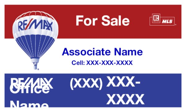 Picture of RE/MAX For Sale Sign (QR/Cell)