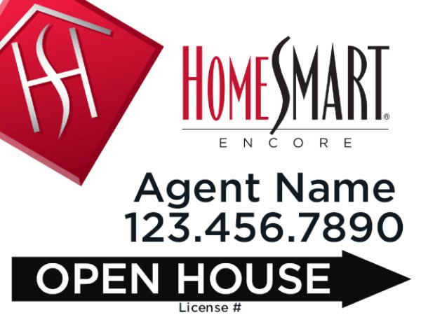 Picture of 18 x 24 Open House Agent Directional - Encore (Double Sided)