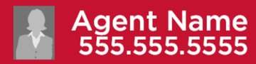 Picture of Agent Name + Phone Number + Photo Rider - Red (Double Sided)