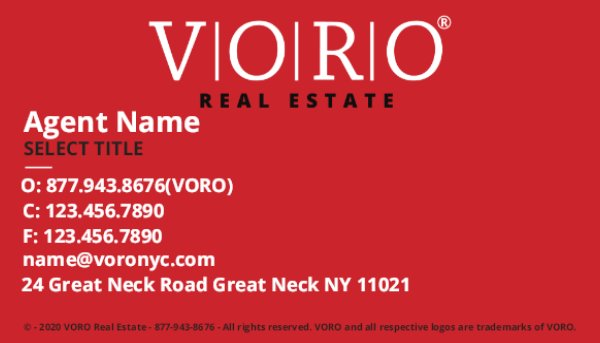 Picture of Voro Business Card 2 (Broker)