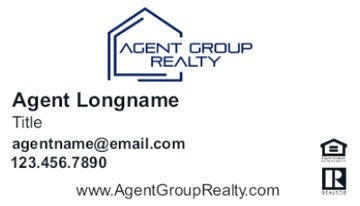 Picture of Agent Group Realty Business Card 2