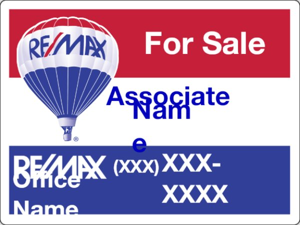 Picture of RE/MAX For Sale Sign (QR)
